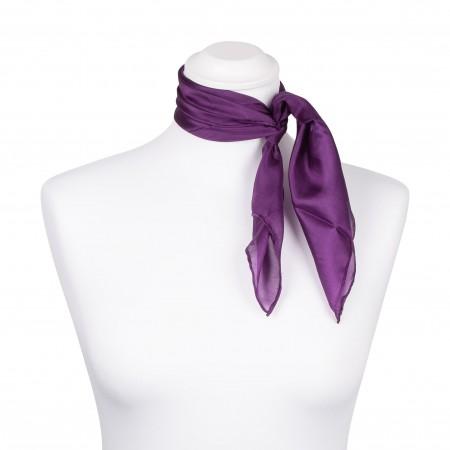 Nickituch Seidentuch violett lila 100% reine Seide 55x55cm Damen