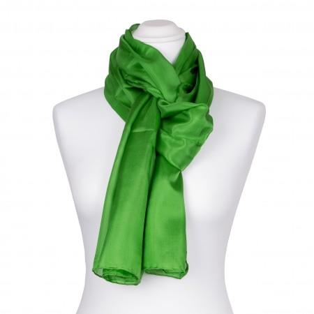 Seidenschal grün minzgrün Minze 100% reine Seide 150x35cm Damen