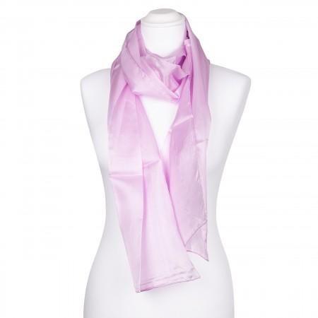 Seidenschal perle rosa pink 100% reine Seide 180x45cm einfarbig uni