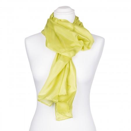 hellgrüner limone Seidenschal 100% reine Seide 180x45cm Damen