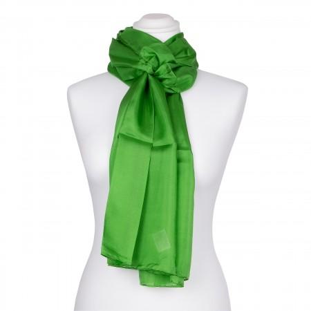 Seidenschal grün minzgrün Minze 100% reine Seide 180x45cm Damen