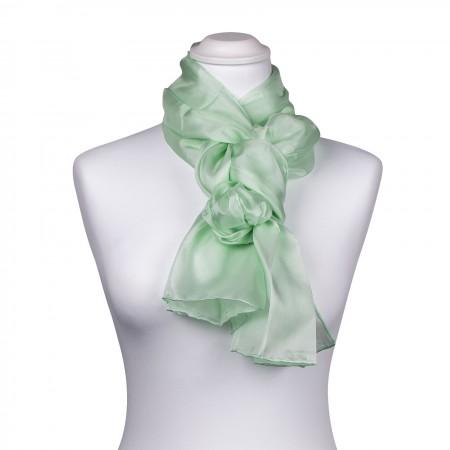 Seidenschal mint grün minzgrün pastell 100% reine Seide 180x45cm
