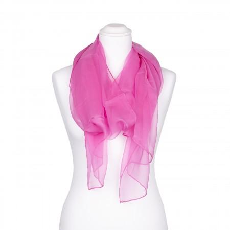 Seidenschal Chiffon altrosa rosa 100% reine Seide 180x55cm