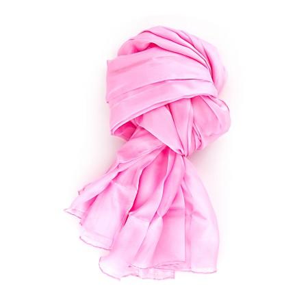Seidenschal XXL 180x90cm altrosa rosa pink reine Seide einfarbig uni