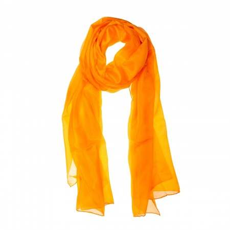 Seidenschal Orange XXL 100% Seide 180x90cm