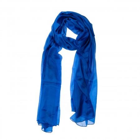 Seidenschal XXL Royalblau (Dunkelblau) 180x90cm reine Seide
