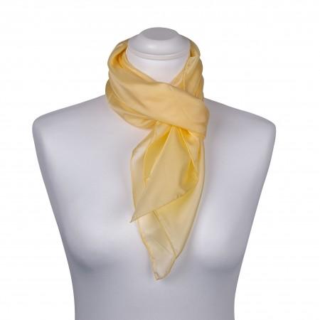Seidentuch Pastellgelb Gelb 100% reine Seide 90x90 cm