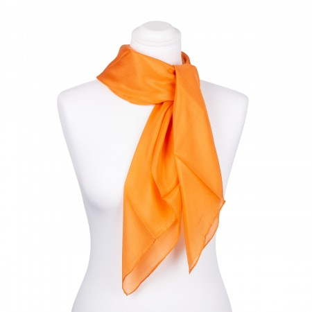 Seidentuch orange 100% reine Seide 90x90cm Damen unifarben einfarbig