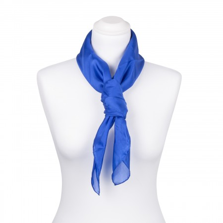 Seidentuch Royalblau Blau Dunkelblau 100% reine Seide 90x90cm