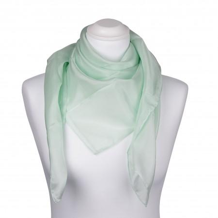 Seidentuch mint grün pastell 100% reine Seide 90x90cm Damen