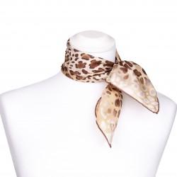 Nickituch aus Seide 53x53 cm mit Leopardenmuster braun für Damen