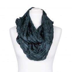 Knitterschal XXL dunkelgrün Jadegrün 100% reine Seide 180x90cm Crinkle