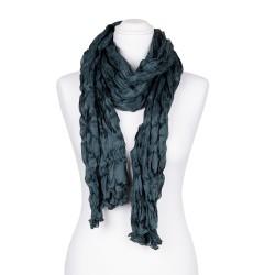 Knitterschal XXL dunkelgrün Jadegrün 100% reine Seide 180x90cm