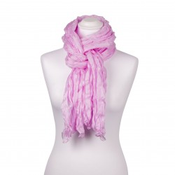 Knitterschal Perle Rosa 100% reine Seide 180x90cm Damen
