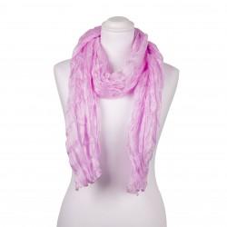 Knitterschal Perle Rosa 100% reine Seide 180x90cm