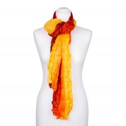 Kitterschal mit Farbverlauf gelb orange rot 180x90cm Crinkle