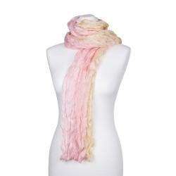 Knitterschal XXL rosa gelb rosé champagner Farbverlauf 100% 180x90cm