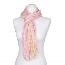 Knitterschal XXL rosa gelb rosé champagner Farbverlauf 100% 180x90cm Damen