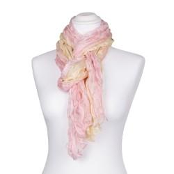 Knitterschal rosa gelb rosé champagner Farbverlauf 100% 180x90cm