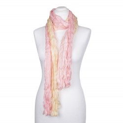 Seidenschal in Knitteroptik mit Farbverlauf champagner rosa gelb 180x90cm Damen