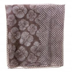 Seidenschal Halstuch Schal braun Blumen