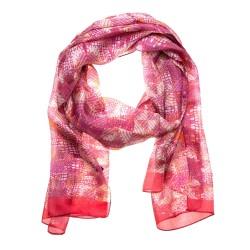 Seidentuch Halstuch Schal Grafikprint pink Damen