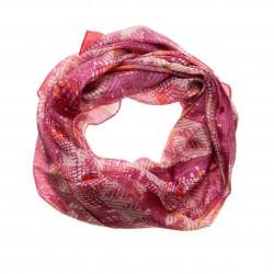 Seidentuch Halstuch Schal Grafikprint pink 100% reine Seide