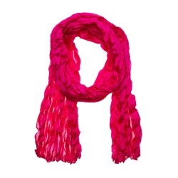Knitterschal pink aus reiner Seide Crashschal