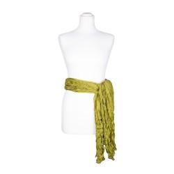 Knitterschal XXL grün olive olivgrün 100% Seide 180x90cm Seidengürtel