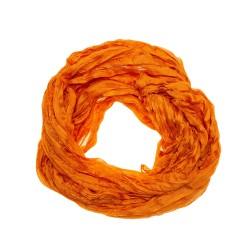 Knitterschal Halstuch Schal XXL orange 180x90 cm reine Seide