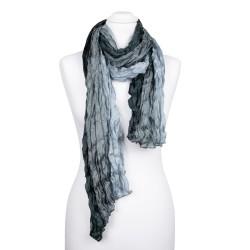 Knitterschal XXL mit Farbverlauf grau anthrazit 100% Seide 180x90cm Damen