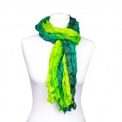 Knitterschal Farbverlauf grün dunkelgrün hellgrün 100% Seide 180x90cm Damen