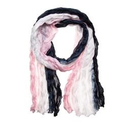 Knitterschal Halstuch Schal XXL Farbverlauf weiß-grau-perle