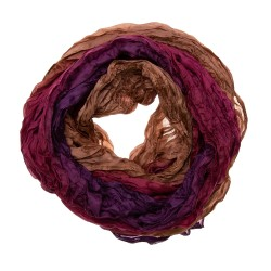 Knitterschal Halstuch Schal XXL Farbverlauf violett-braun-bordeaux