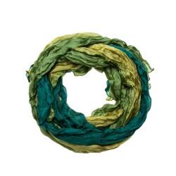 Seiden-Knitterschal Farbverlauf olive grün 180x90cm reine Seide Damen