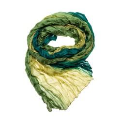 Knitterschal Halstuch Schal Farbverlauf olive grün