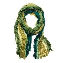 Knitterschal Halstuch Schal Farbverlauf olive grün reine Seide