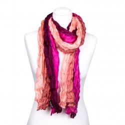 Knitterschal, pink, rosa, weinrot, 180x90cm, 100% reine Seide Farbverlauf