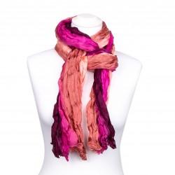 Crash-Schal, Weinrot, pink, rosa, 180x90cm, 100% reine Seide Farbverlauf