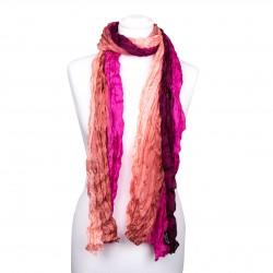 Knitterschal, Weinrot, pink, rosa, 180x90cm, 100% reine Seide Farbverlauf