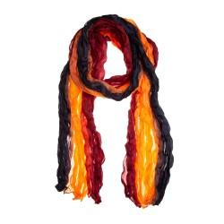 Knitterschal Halstuch Schal XXL Farbverlauf schwarz-orange-weinrot