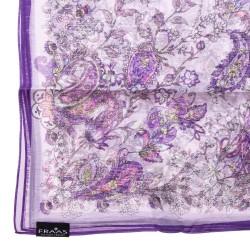 FRAAS Seidentuch Halstuch Schal Paisley lila violett reine Seide