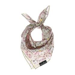 Nickituch beige-rosa Floralprint