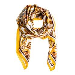 FRAAS Seidentuch Halstuch Paisley orange gold 88x88 cm reine Seide