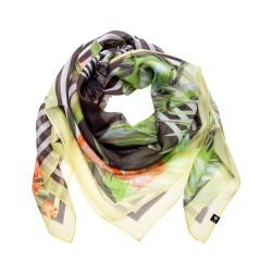 FRAAS Seidentuch Halstuch Dschungel grün ca. 105x105 cm reine Seide