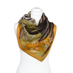FRAAS Seidentuch Halstuch Dschungel orange 105x150 cm reine Seide