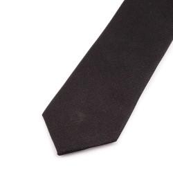 Seidenkrawatte schwarz, reine Seide, einfarbig
