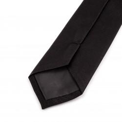 Seidenkrawatte schwarz, reine Seide, uni, einfarbig