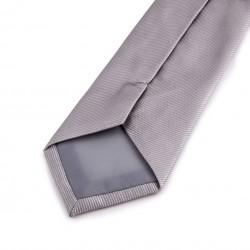 Seidenkrawatte grau, silber, reine Seide, uni, einfarbig