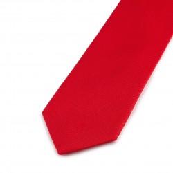Seidenkrawatte rot tiefrot reine Seide einfarbig Herren